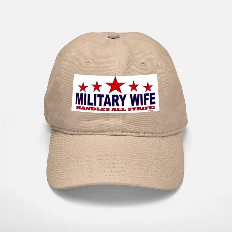 Military Wife Handles All Strife Baseball Baseball Cap