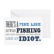 Fishing Idiot Greeting Card