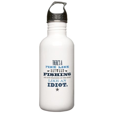 Fishing Idiot Stainless Water Bottle 1.0L