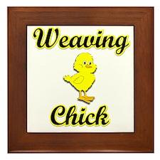 Weaver Chick Framed Tile