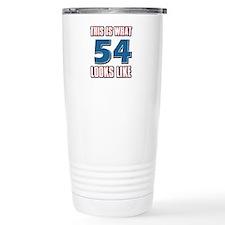 Cool 54 year old birthday designs Travel Mug