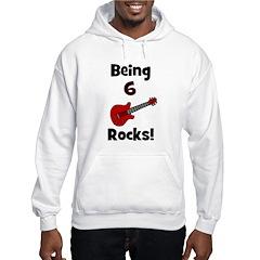 Being 6 Rocks! Guitar Hoodie