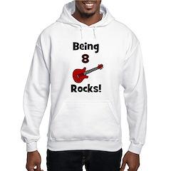 Being 8 Rocks! Guitar Hoodie