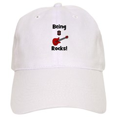 Being 8 Rocks! Guitar Baseball Cap