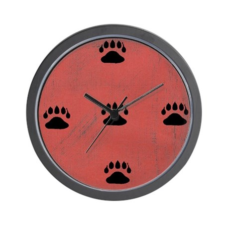 5 BEAR PAWS Wall Clock