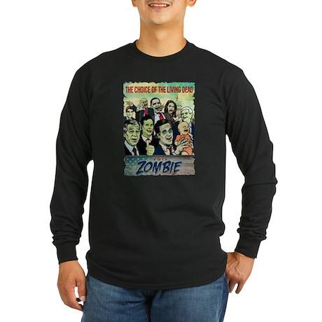 Vote Zombie Long Sleeve Dark T-Shirt