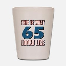 Cool 65 year old birthday designs Shot Glass