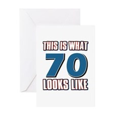 Cool 70 year old birthday designs Greeting Card