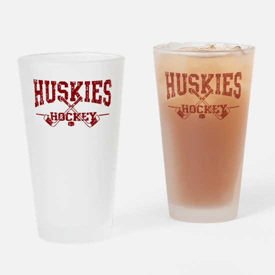 Huskies Hockey Drinking Glass
