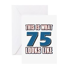 Cool 75 year old birthday designs Greeting Card
