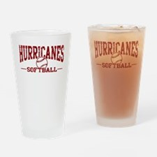 Hurricanes Softball Drinking Glass