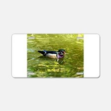 Wood Duck Drake Aluminum License Plate
