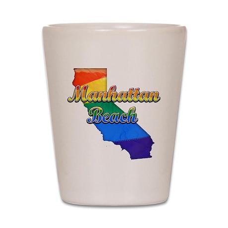 Manhattan Beach, California. Gay Pride Shot Glass