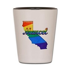 Marcel, California. Gay Pride Shot Glass