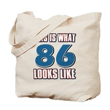 Cool 86 year old birthday designs Tote Bag