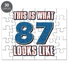 Cool 87 year old birthday designs Puzzle