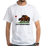 California Mens White T-shirts