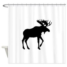 Moose Silouette Shower Curtain