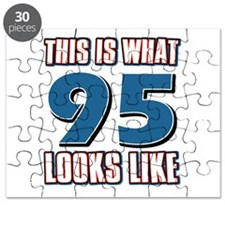 Cool 95 year old birthday designs Puzzle