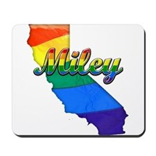 Miley, California. Gay Pride Mousepad