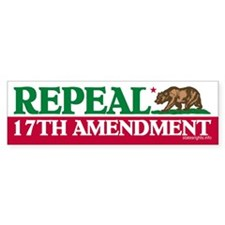 Bumper Sticker, California Repeal 17th
