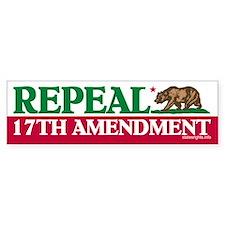 Bumper Sticker, California Repeal 17th