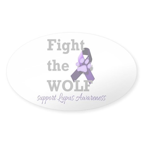 Fight the Wolf Sticker (Oval)
