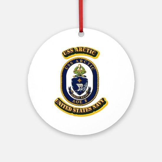 US - NAVY - USS Arctic (AOE 8) Ornament (Round)