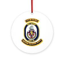 US - NAVY - USS Barry (DDG 52) Ornament (Round)