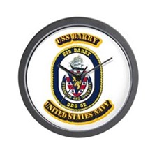 US - NAVY - USS Barry (DDG 52) Wall Clock