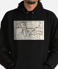 Vintage Map of The Great Lakes (1744) Sweatshirt