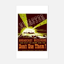 Broadcast Receivers WPA Poster Sticker (Rectangle)