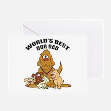 World's Best Dog Dad Greeting Card