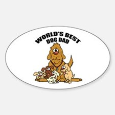World's Best Dog Dad Decal