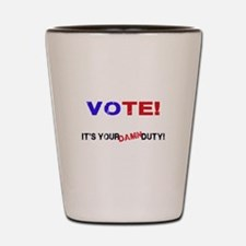 Vote! Shot Glass
