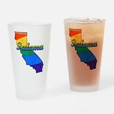 Paloma, California. Gay Pride Drinking Glass