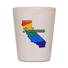 Paloma, California. Gay Pride Shot Glass