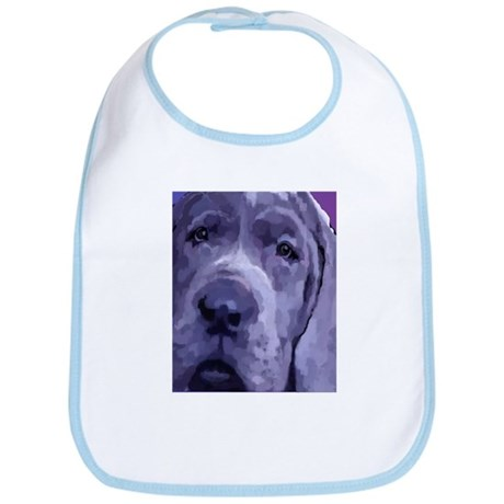 Great Dane Blue Puppy Upclose Bib