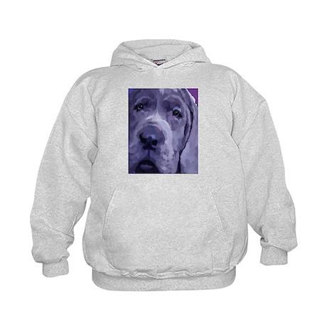 Great Dane Blue Puppy Upclose Kids Hoodie
