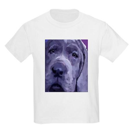 Great Dane Blue Puppy Upclose Kids T-Shirt