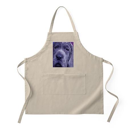 Great Dane Blue Puppy Upclose BBQ Apron