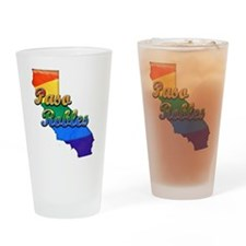 Paso Robles, California. Gay Pride Drinking Glass