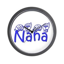 Nana-blue Wall Clock