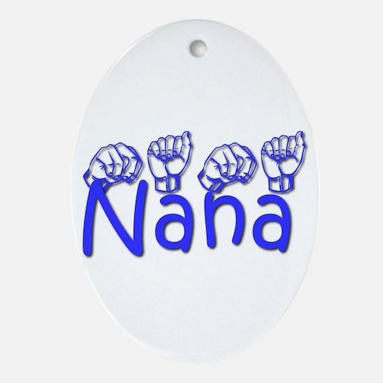 Nana-blue Ornament (Oval)
