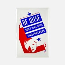 Firecrackers WPA Poster Rectangle Magnet