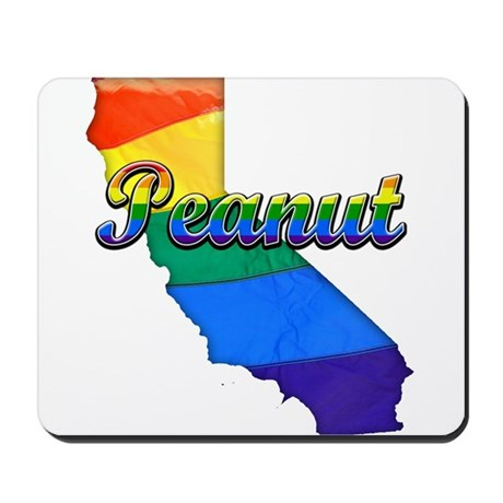 Peanut, California. Gay Pride Mousepad