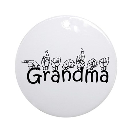 Grandma w/text Ornament (Round)