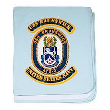 US - NAVY - USS Brunswick (ATS-3) baby blanket