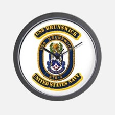 US - NAVY - USS Brunswick (ATS-3) Wall Clock