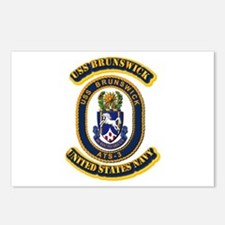 US - NAVY - USS Brunswick (ATS-3) Postcards (Packa